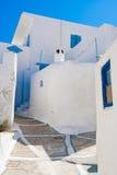 Arquitectura de Cycladic, pueblo de Plaka, Milos isla, Cícladas, Grecia Foto de archivo libre de regalías