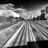 Arquitectura de Gdansk Zaspa Mirada artística en blanco y negro Fotografía de archivo