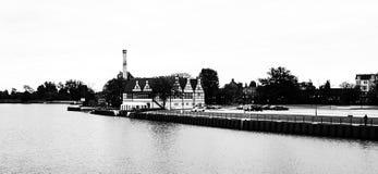 Arquitectura de Hansa Mirada artística en blanco y negro Imagen de archivo