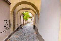 Arquitectura de Kezmarok, Eslovaquia, fotos de archivo