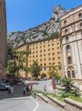 Arquitectura de la abadía benedictina Santa Maria de Montserrat Imagen de archivo libre de regalías