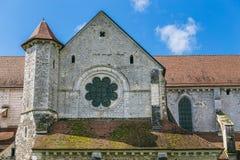 Arquitectura de la abadía francesa medieval Fotografía de archivo libre de regalías