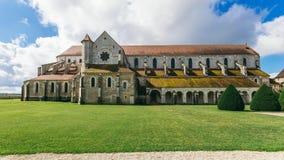 Arquitectura de la abadía francesa medieval Foto de archivo