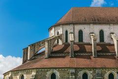 Arquitectura de la abadía francesa medieval Foto de archivo libre de regalías