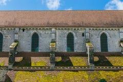 Arquitectura de la abadía francesa medieval Imagen de archivo libre de regalías