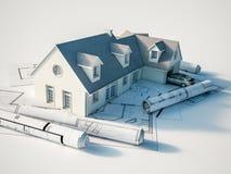 Arquitectura de la casa libre illustration
