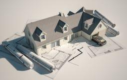 Arquitectura de la casa ilustración del vector