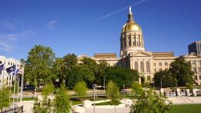 Arquitectura de la ciudad de Atlanta Georgia State Capital Gold Dome metrajes