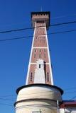 Arquitectura de la ciudad de Rybinsk, Rusia Torre de fuego Foto de archivo libre de regalías