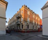 Arquitectura de la ciudad en la parte central de Gliwice Fotografía de archivo libre de regalías