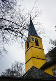 Arquitectura de la ciudad natal de la ciudad del invierno de la naturaleza del árbol Fotos de archivo libres de regalías