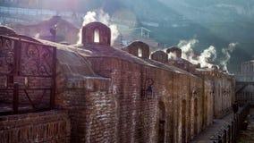 Arquitectura de la ciudad vieja de Tbilisi, en el distrito de Abanotubani Fotos de archivo