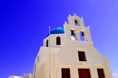Arquitectura de la iglesia en la isla Grecia de Thera Santorini Oia Foto de archivo