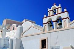 Arquitectura de la iglesia en la isla Grecia de Thera Santorini Oia Imagenes de archivo