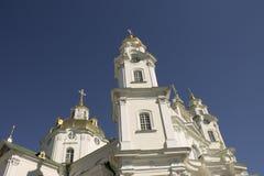 Arquitectura de la iglesia ortodoxa en Ucrania Imagen de archivo libre de regalías