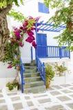 Arquitectura de la isla de Mykonos, Grecia Imagen de archivo