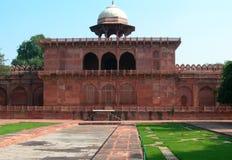 Arquitectura de la piedra arenisca roja de Taj Mahal Imagen de archivo libre de regalías