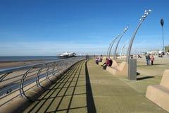 Arquitectura de la 'promenade' de Blackpool Fotos de archivo
