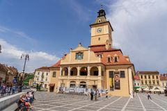 Arquitectura de la torre del consejo en Brasov, en Rumania Imágenes de archivo libres de regalías