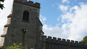 Arquitectura de la torre de reloj de la iglesia metrajes