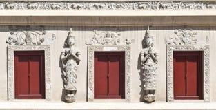 Arquitectura de las escrituras budistas Pasillo Imágenes de archivo libres de regalías