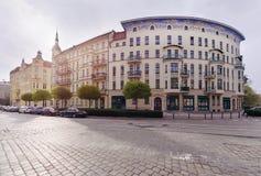 Arquitectura de los edificios en la isla de Tumski, Wroclaw, Polonia Foto de archivo libre de regalías