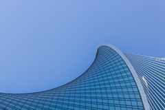 Arquitectura de los edificios de la ciudad Torre de la evoluci?n fotos de archivo