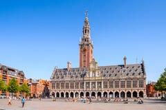 Arquitectura de Lovaina, Bélgica imagenes de archivo