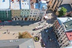 Arquitectura de Lviv Imagen de archivo
