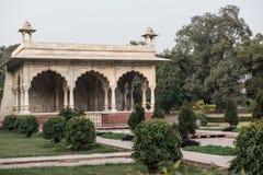 Arquitectura de mármol de la era de Mughal Imágenes de archivo libres de regalías