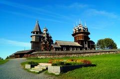 Arquitectura de madera en Kizhi Foto de archivo libre de regalías