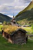 Arquitectura de madera tradicional de Borgund Fotografía de archivo