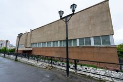 Arquitectura de Magada, Federación Rusa fotografía de archivo