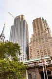 Arquitectura de Manhattan, Nueva York, los E.E.U.U. Imagen de archivo libre de regalías