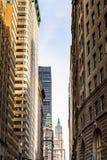 Arquitectura de Manhattan, Nueva York, los E.E.U.U. Foto de archivo