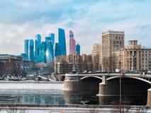 Arquitectura de Moscú, rascacielos modernos de la ciudad Fotografía de archivo libre de regalías