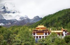 Arquitectura de paisaje del templo de Chong Gu Imagenes de archivo