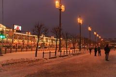 Arquitectura de St Petersburg Cuadrado de Sennaya Imagen de archivo libre de regalías