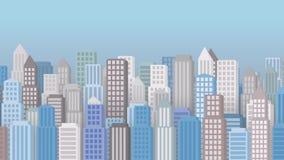 Arquitectura de una pequeña ciudad Fondo cantidad libre illustration
