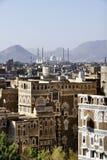 Arquitectura de Yemen Imágenes de archivo libres de regalías