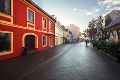 Arquitectura de Zagreb Croacia fotos de archivo
