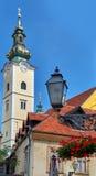 Arquitectura de Zagreb Croatia fotografía de archivo