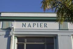 Arquitectura del art déco de Napier Imagen de archivo