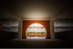 Arquitectura del campus en la universidad China de Shenzhen Imagen de archivo libre de regalías
