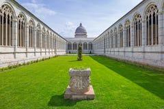 Arquitectura del cementerio monumental en Pisa Fotos de archivo libres de regalías