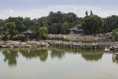 Arquitectura del jardín del estilo chino Imagen de archivo libre de regalías