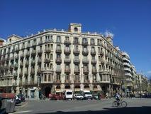 Arquitectura del modernismo de Barcelona Fotografía de archivo