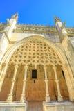 Arquitectura del monasterio de Batalha Foto de archivo