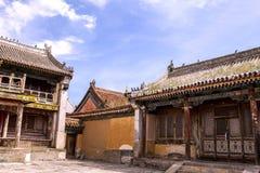 Arquitectura del monasterio en Mongolia Imagen de archivo