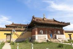 Arquitectura del monasterio en Mongolia Imágenes de archivo libres de regalías